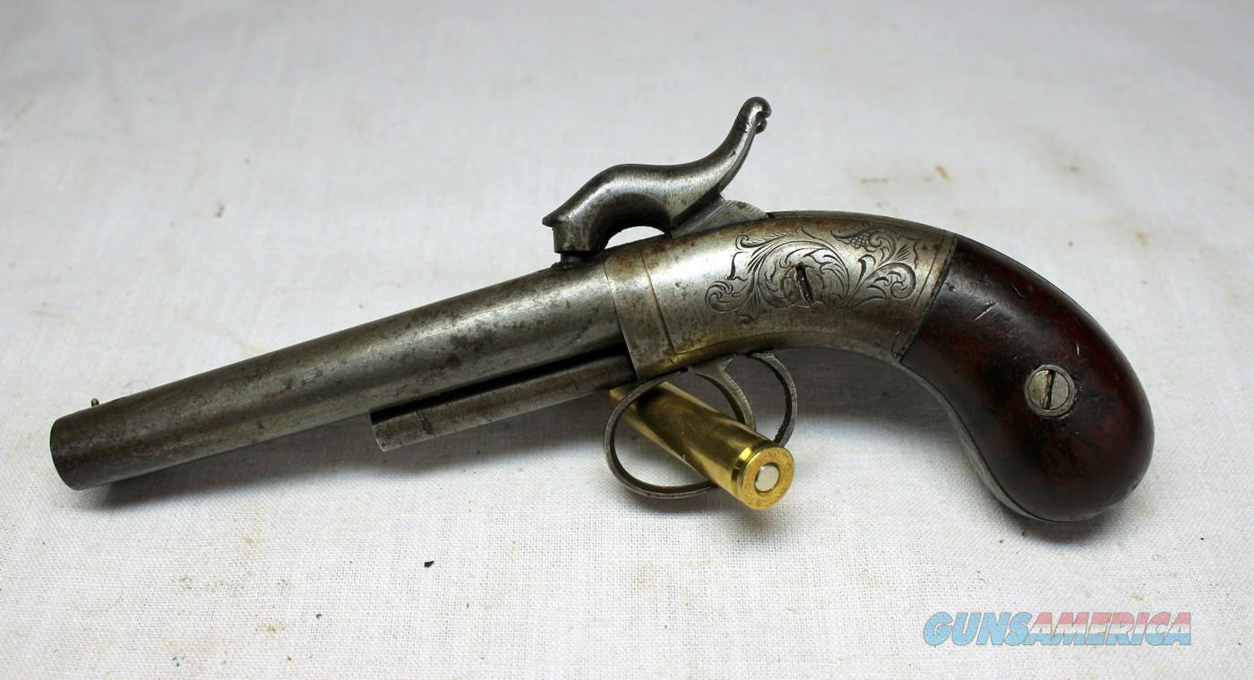 Antique BRUCE & DAVIS Double Barrel Percussion MUFF PISTOL ~ .32 Cal ~ Collectible  Guns > Pistols > Antique (Pre-1899) Pistols - Perc. Misc.