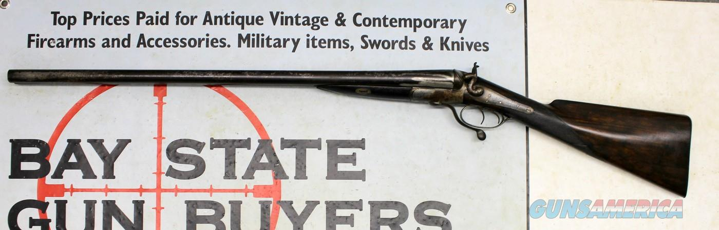 Boston Underlever Double Hammer Shotgun By Joseph Tonks ~ 10 Ga.  Guns > Shotguns > Antique (Pre-1899) Shotguns - Misc.