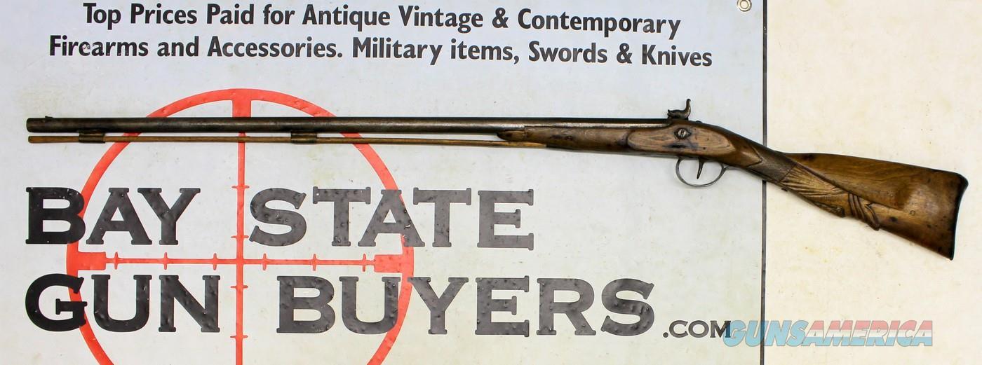 Antique 20Ga Shotgun w/ SKILLFULLY CARVED STOCK ~ Wall Hanger ~ ONE OF A KIND!  Guns > Shotguns > Antique (Pre-1899) Shotguns - Misc.