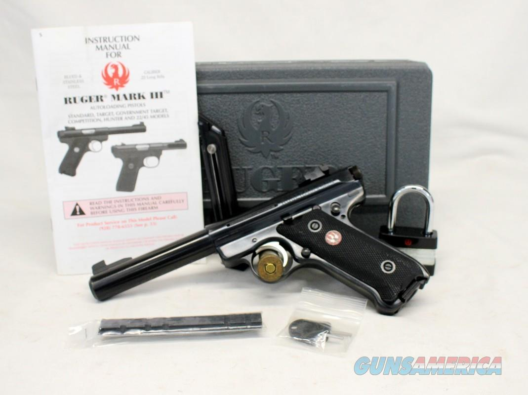 Ruger Mark III Target Pistol ~ .22LR ~ Complete Gun with Box, Manual & (2) Factory Magazines  Guns > Pistols > Ruger Semi-Auto Pistols > Mark I/II/III/IV Family