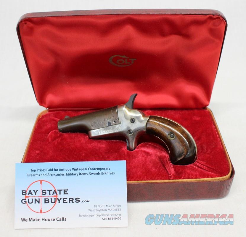 COLT Derringer single shot pistol ~ .22 Short caliber ~ RED COLT CASE ~ NO MASS SALES  Guns > Pistols > Colt Commemorative Pistols