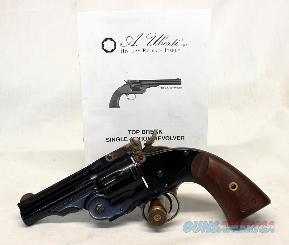 A. Uberti S.A. SCHOFIELD MODEL 1875 revolver ~ .38 Colt / S&W caliber ~ Manual Included [NO MASS SALES]  Guns > Pistols > Uberti Pistols > Ctg.