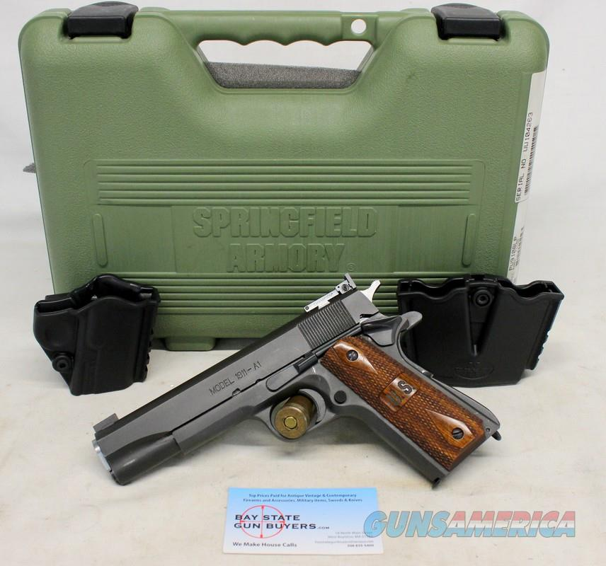 Springfield Armory 1911 GI semi-automatic pistol package ~ .45ACP ~ Parkerized Finish ~ Box & Holsters  Guns > Pistols > Springfield Armory Pistols > 1911 Type