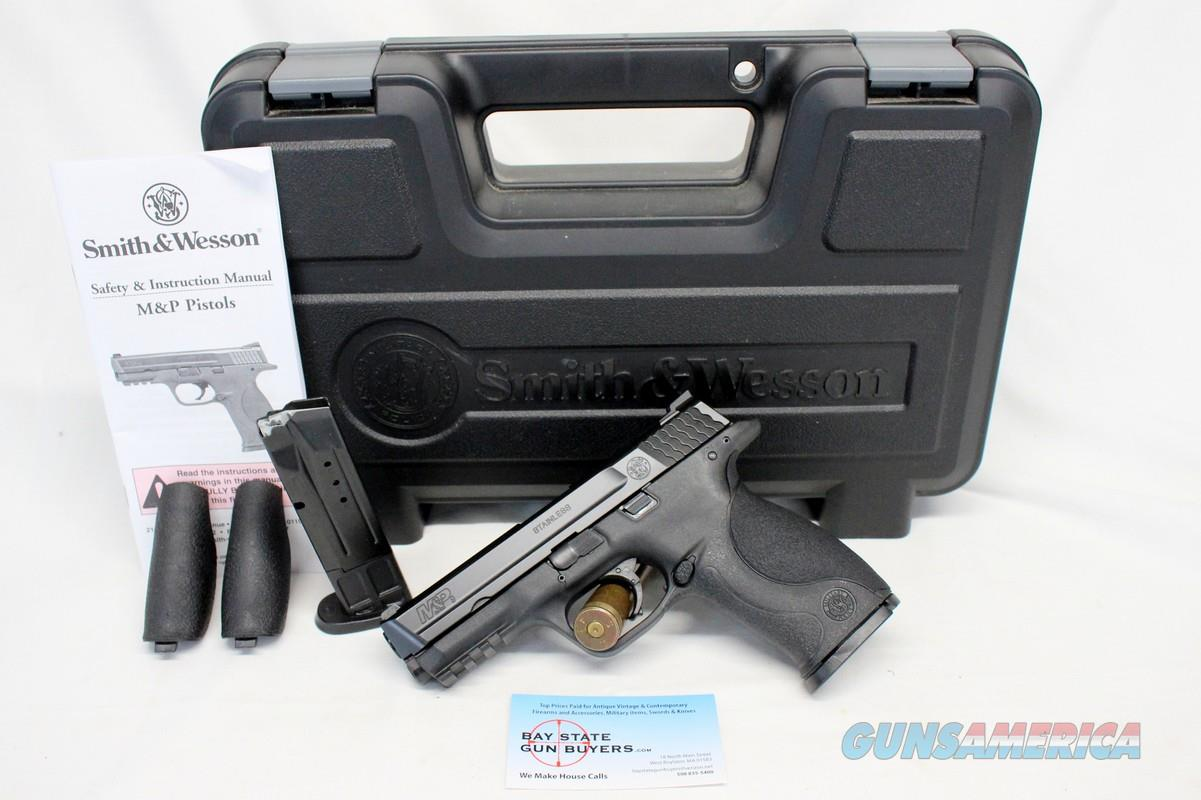 Smith & Wesson M&P 9 semi-automatic pistol ~ 9mm ~ BOX, manual & (2) magazines   Guns > Pistols > Smith & Wesson Pistols - Autos > Polymer Frame