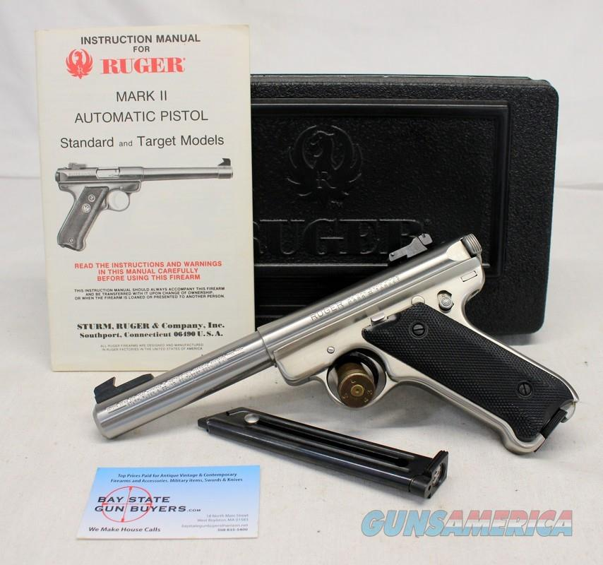 "Ruger Mark II semi-automatic pistol ~ .22LR ~ 5.5"" BULL BARREL ~ Box & Manual ~ 1981Mfg.  Guns > Pistols > Ruger Semi-Auto Pistols > Mark I/II/III/IV Family"