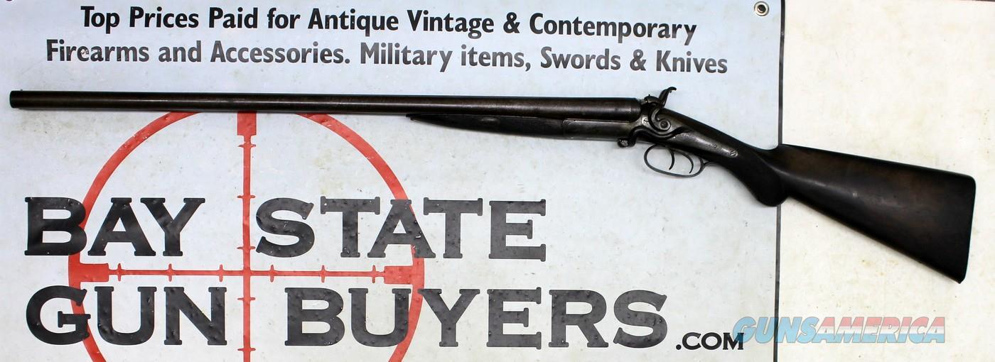 J.P. CLABROUGH & BROS. SxS Shotgun ~ SIDE LEVER ~ 12Ga. ~ Antique LONDON  Guns > Shotguns > Antique (Pre-1899) Shotguns - Misc.