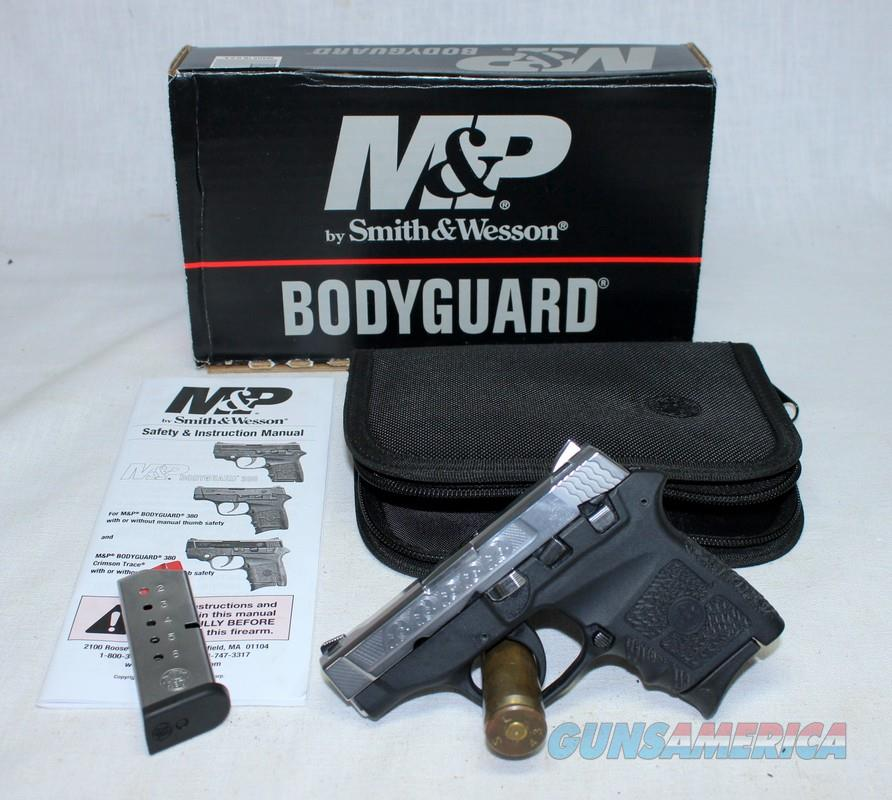 Smith & Wesson BODYGUARD 380 ~ Like New w/ BOX & Papers ~ ENGRAVED SLIDE  Guns > Pistols > Smith & Wesson Pistols - Autos > Polymer Frame