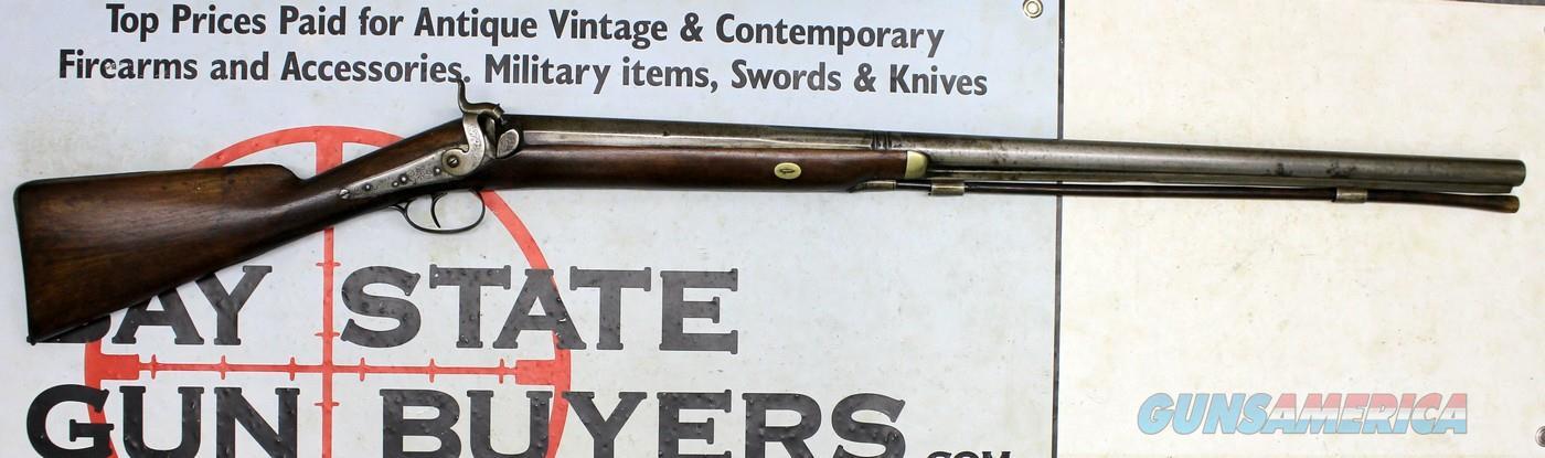 London Percussion Musket ~ EGG ~ .77 Caliber BIG BORE Heavy Rifle  Guns > Rifles > Antique (Pre-1899) Rifles - Perc. Misc.