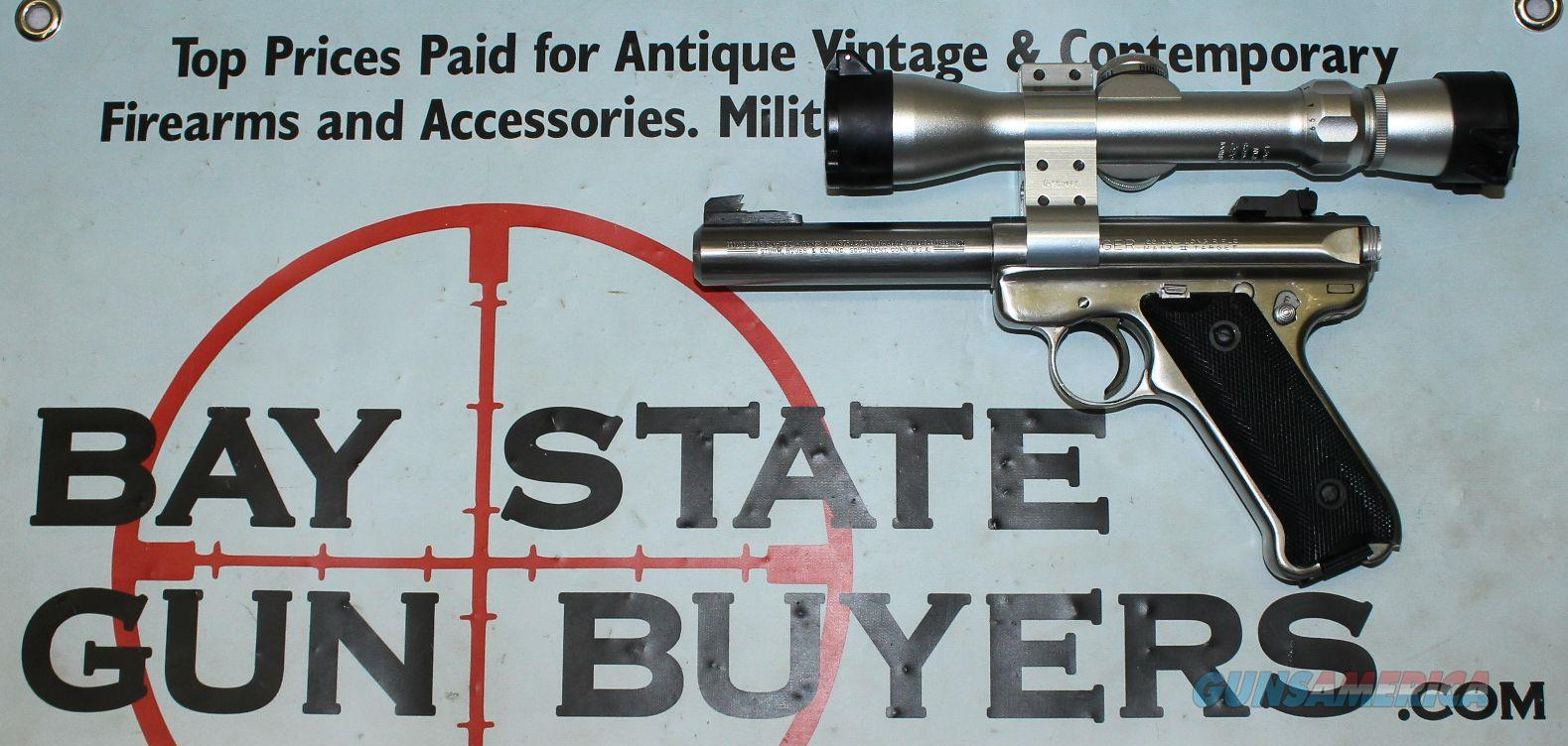 Ruger MK II Target Pistol - STAINLESS - .22lr - BUSHNELL 2-6x32 Scope   Guns > Pistols > Ruger Semi-Auto Pistols > Mark I/II/III Family