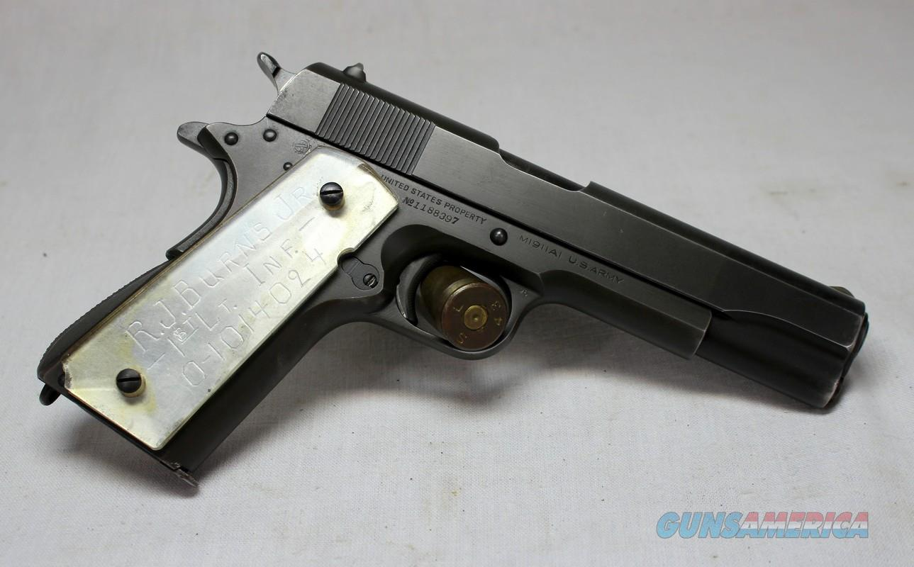 US Army Colt 1911A1 semi-automatic pistol ~ .45 acp ~ 1943 ~ COLLECTORS ITEM  Guns > Pistols > Colt Automatic Pistols (1911 & Var)