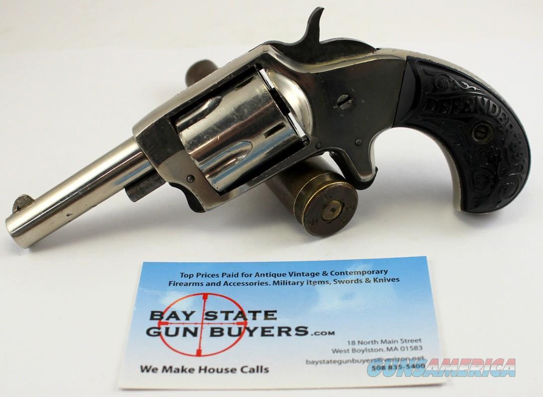 Iver Johnson DEFENDER '89 5-shot revolver ~ .32 Rimfire Caliber ~ Nickel Finish  Guns > Pistols > Iver Johnson Pistols