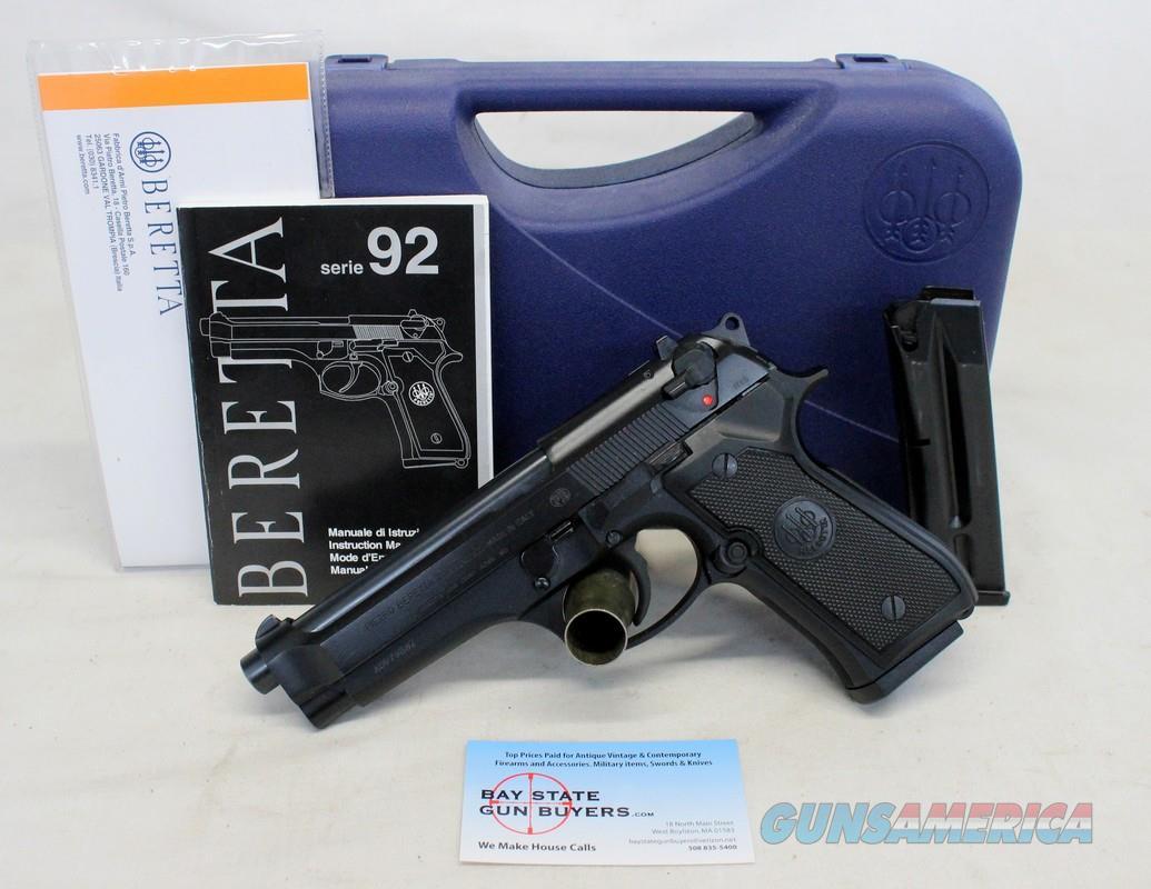 Beretta Model 92FS semi-automatic pistol ~ 9mm ~ Box, Manual & (2) Magazines  Guns > Pistols > Beretta Pistols > Model 92 Series