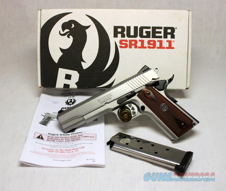 Ruger SR1911 semi-automatic pistol .45ACP ~ Box & Papers ~ 1911  Guns > Pistols > Ruger Semi-Auto Pistols > 1911