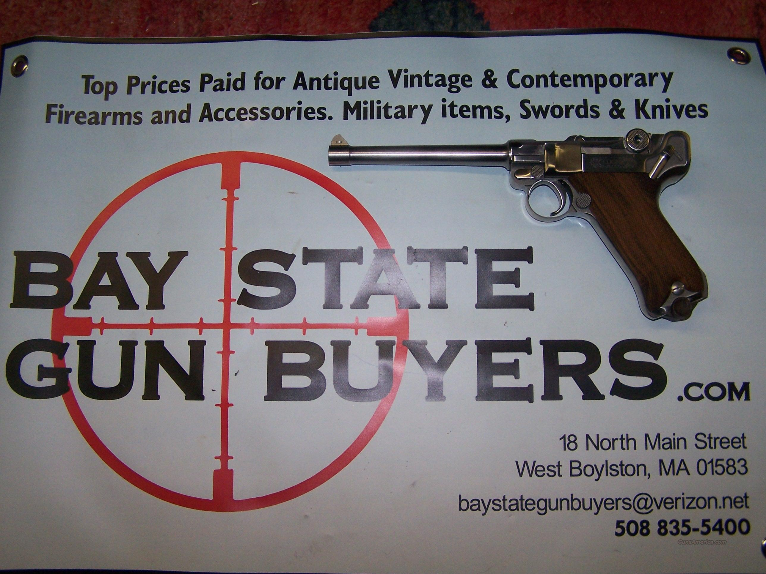 STOEGER LUGER NAVY MODEL 9MM SEMI AUTO PISTOL with BOX and 2 Extra Magazines  Guns > Pistols > Luger Pistols