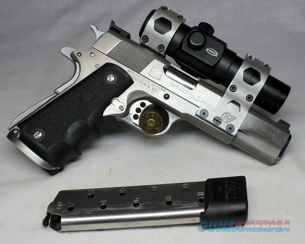 Custom SPRINGFIELD ARMORY 1911 A1 TARGET PISTOL ~ .45ACP ~ Adco RED DOT Scope   Guns > Pistols > Springfield Armory Pistols > 1911 Type