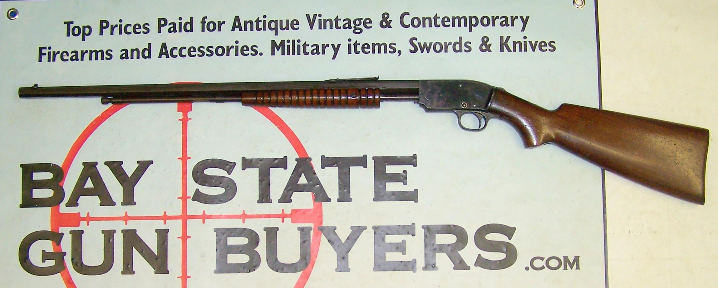 early Savage Arms Model 1914 Pump Action Rifle .22 S,L,LR   Guns > Rifles > Savage Rifles > 14/114