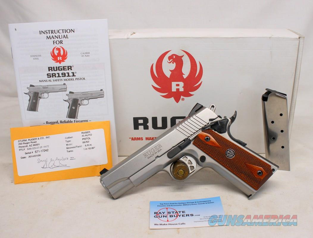 Ruger SR1911 semi-automati pistol ~ .45ACP ~ CMD ~ Box, Manual & (2) Magazines  Guns > Pistols > Ruger Semi-Auto Pistols > 1911