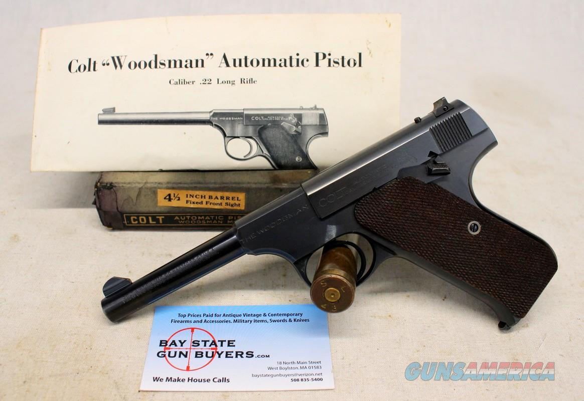 Colt WOODSMAN Sport ~ First Series ~ BOX & PAPERS ~ 1942Mfg. ~ .22LR  Guns > Pistols > Colt Automatic Pistols (22 Cal.)