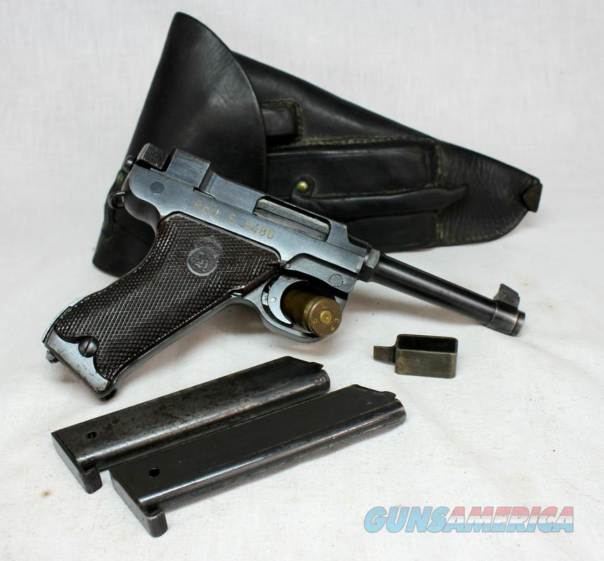 Lahti M/40S Danish Police semi-automatic pistol ~ 9mm ~ WWII Era (1944) ~ ORIGINAL HOLSTER   Guns > Pistols > Military Misc. Pistols Non-US