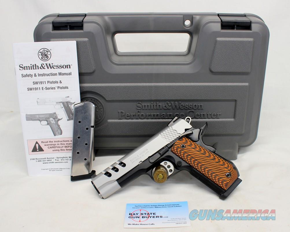 Smith & Wesson PERFORMANCE CENTER 1911 semi-automatic pistol ~ .45ACP ~ Porter Barrel ~ Custom Grips ~ BOX & MANUAL!  Guns > Pistols > Smith & Wesson Pistols - Autos > Alloy Frame