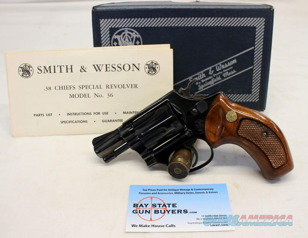 Smith & Wesson MODEL 36 (No Dash) CHIEFS SPECIAL revolver ~ .38SPL ~ BOX & PAPERS  Guns > Pistols > Smith & Wesson Revolvers > Small Frame ( J )