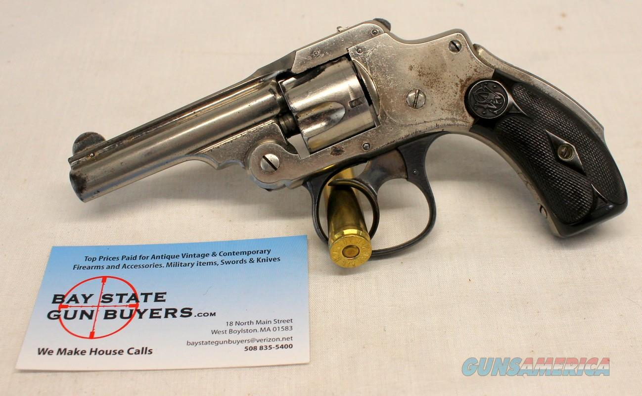Smith & Wesson SAFETY HAMMERLESS revolver ~ .32 s&w ~ LEMON SQUEEZER / NEW DEPARTURE ~ Nickel   Guns > Pistols > Smith & Wesson Revolvers > Pre-1945