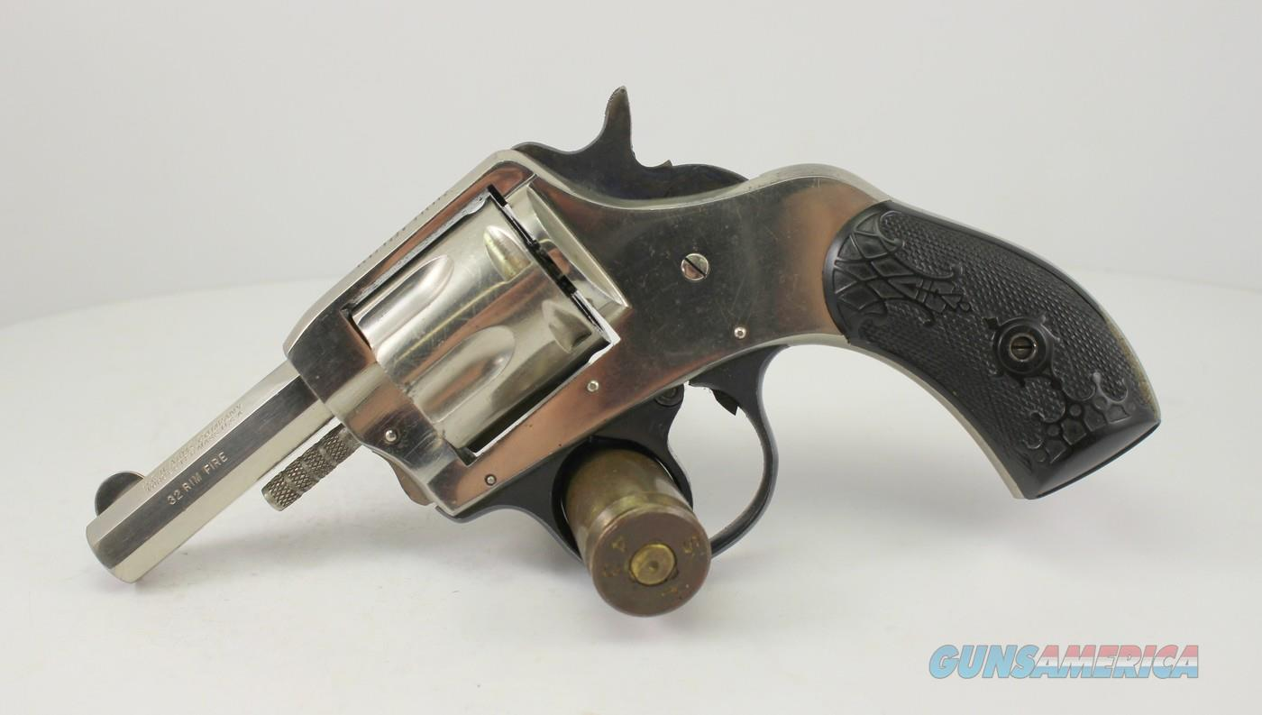 Harrington & Richardson BULLDOG revolver ~ .32 Rimfire Caliber ~ Nickel Finish ~ H&R  Guns > Pistols > Harrington & Richardson Pistols
