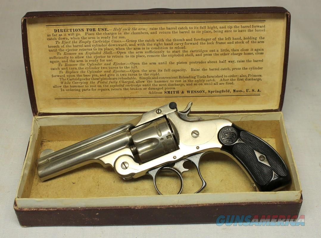 early Smith & Wesson DOUBLE ACTION 38 (2nd Model) IN ORIGINAL BOX  Guns > Pistols > Antique (Pre-1899) Pistols - Ctg. Misc.