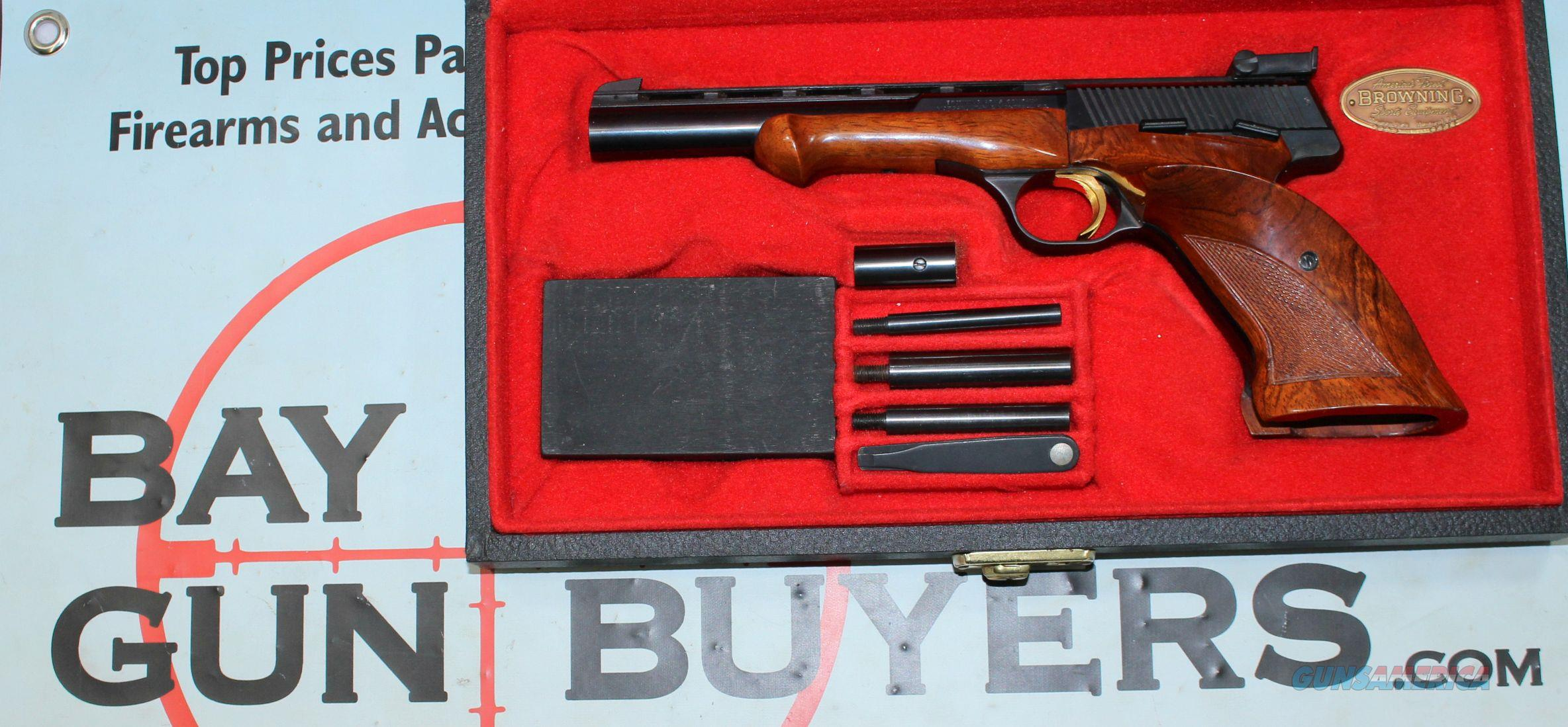 Browning Medalist .22LR Target Pistol with CASE, WEIGHTS & MANUAL  Guns > Pistols > Browning Pistols > Other Autos