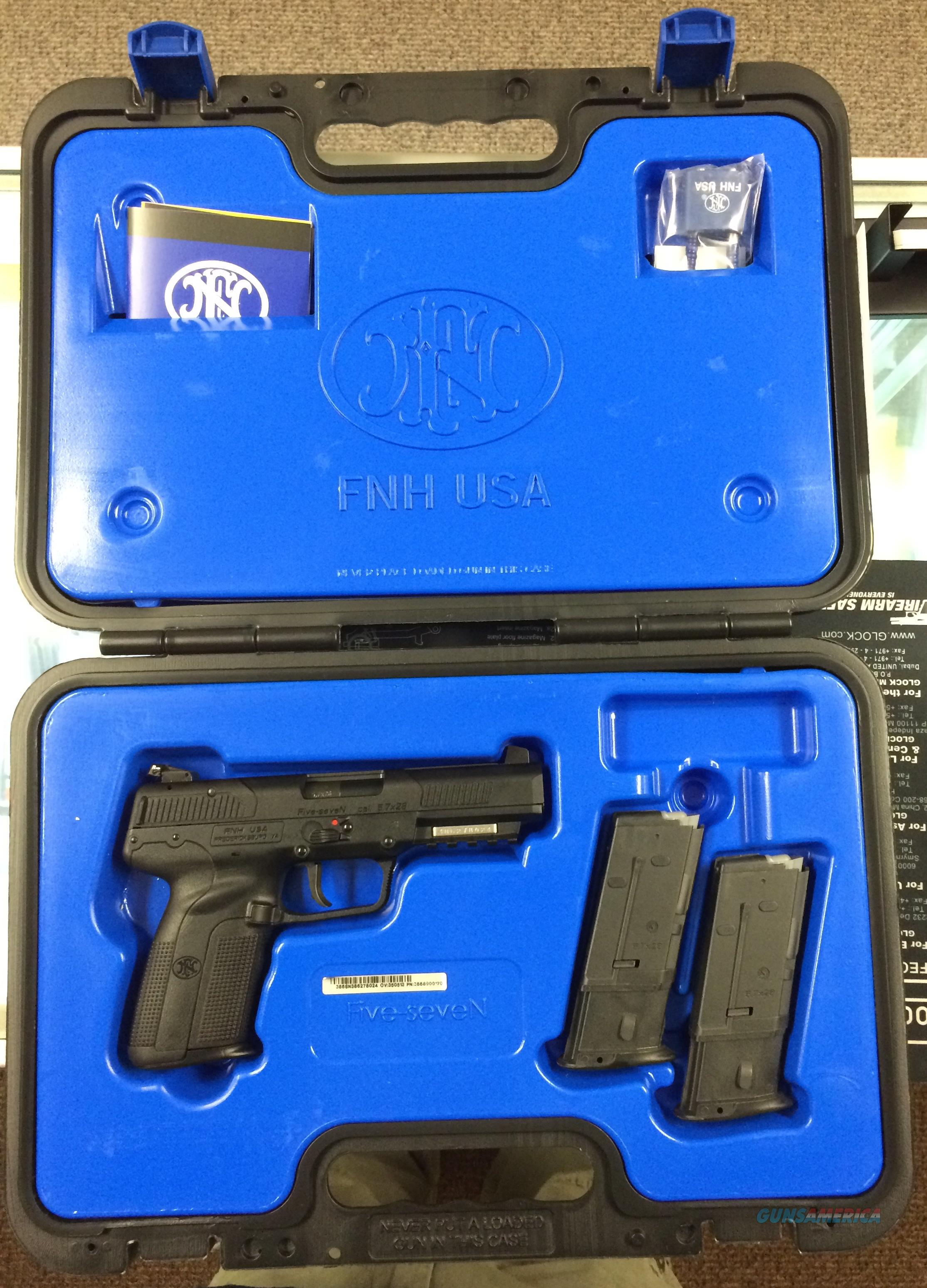 "BRAND NEW FN Five-seveN® USG 5.7mmX28mm 4.75"" 10+1 w/Rail Black Poly Grip Black  Guns > Pistols > FNH - Fabrique Nationale (FN) Pistols > FiveSeven"