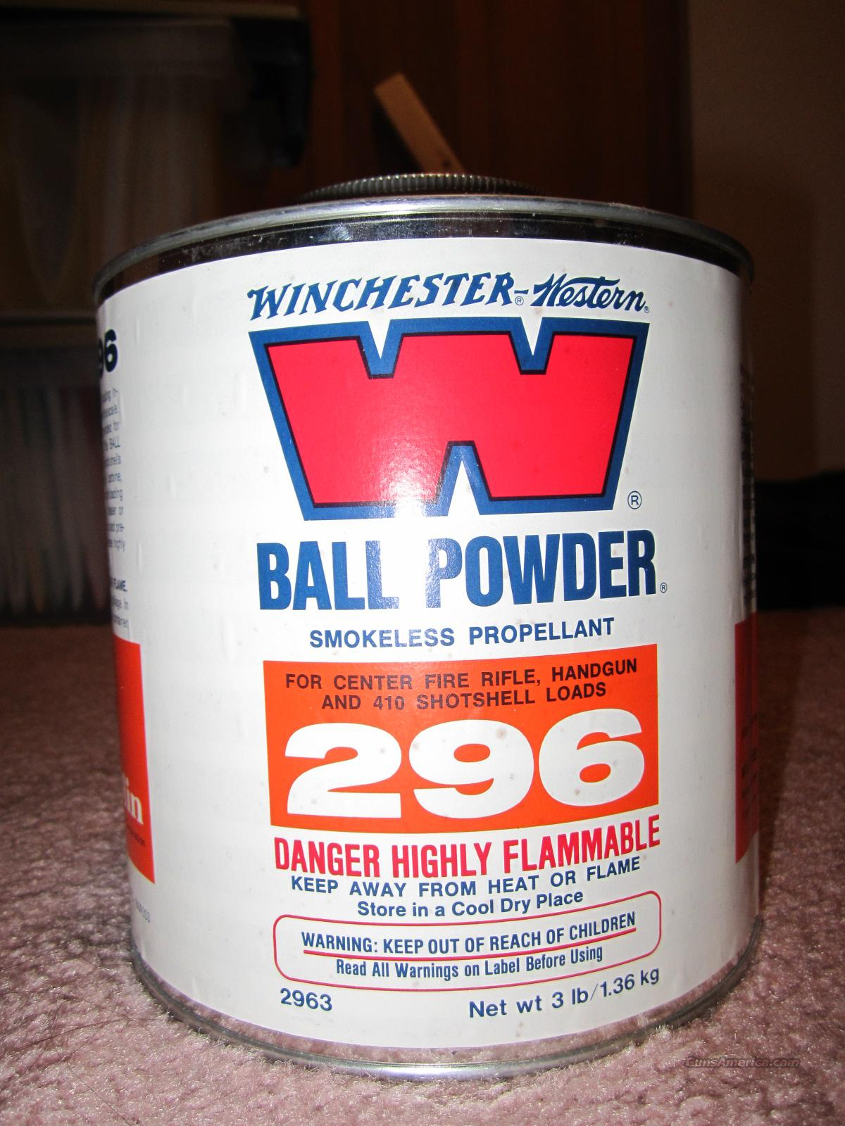 Winchester Ball Powder W296  Non-Guns > Reloading > Components > Other