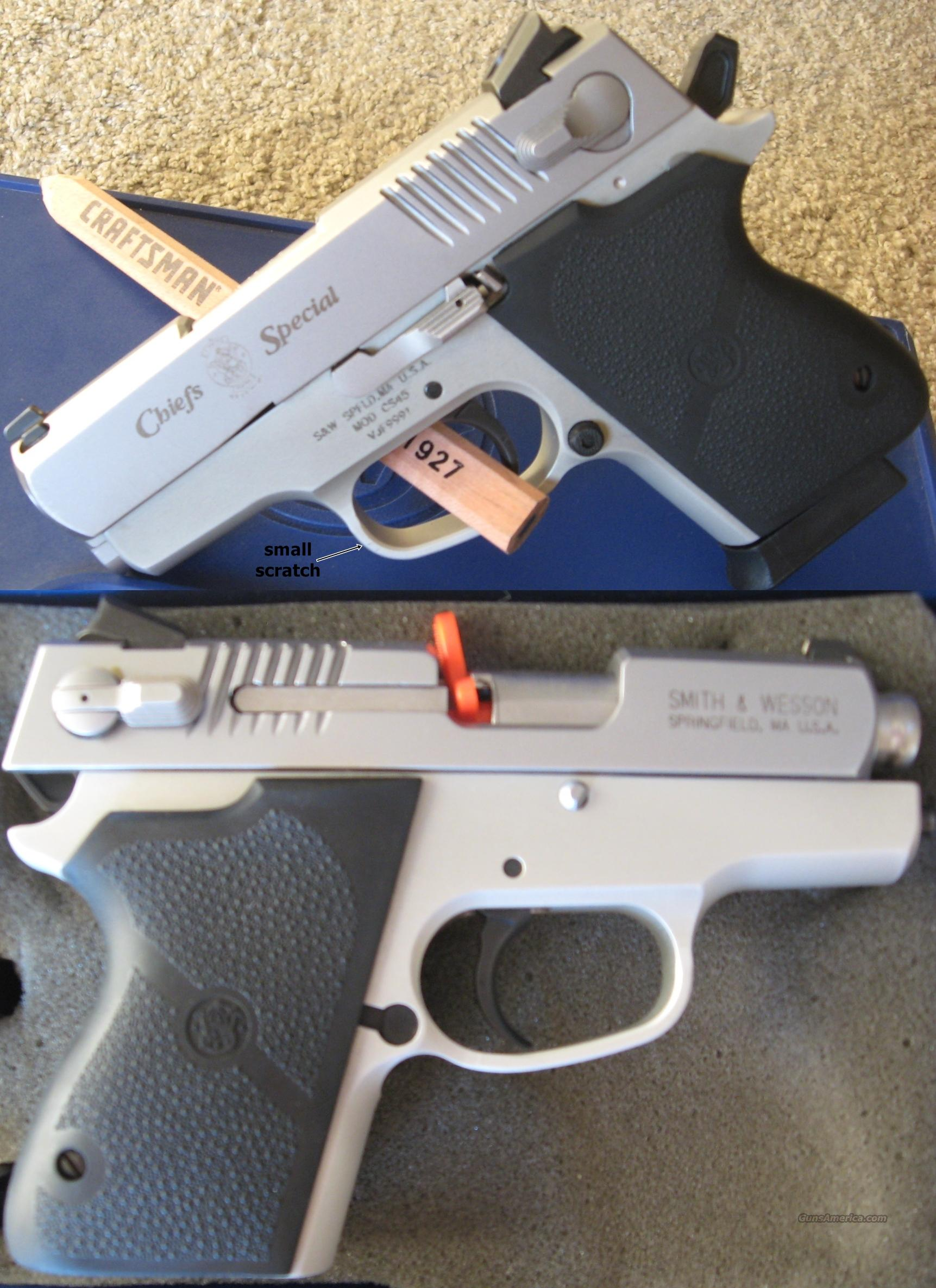 S&W Chief's Special CS45 - Like New - Night Sights - 3 Mags - Stainless - Smith and Wesson - .45 ACP  Guns > Pistols > Smith & Wesson Pistols - Autos > Alloy Frame