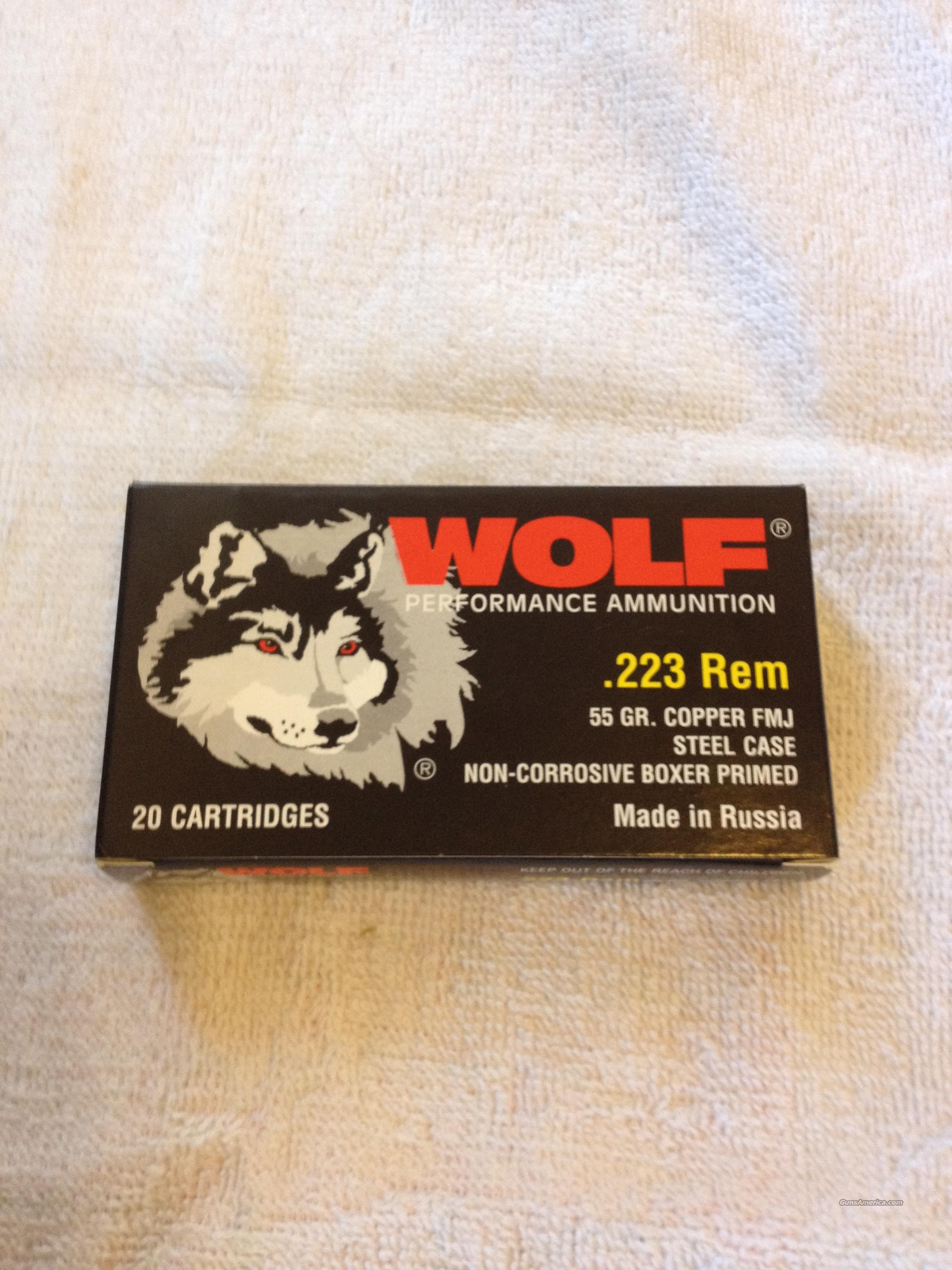 Wolf .223 Rem 55 GR. Copper FMJ  Non-Guns > Ammunition