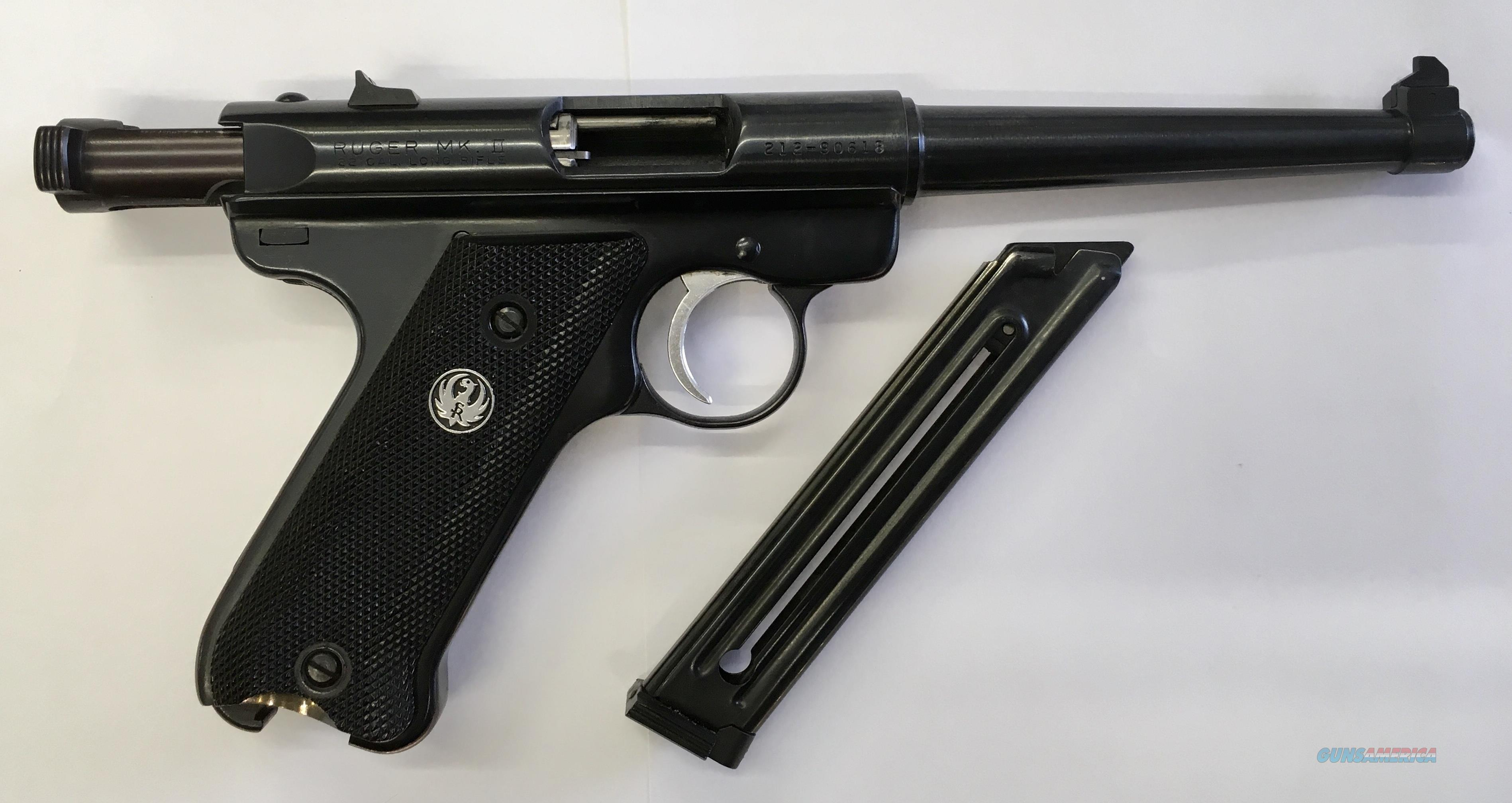 "NICE USED RUGER MARK II 22LR 6"" BARREL  Guns > Pistols > Ruger Semi-Auto Pistols > Mark I/II/III/IV Family"