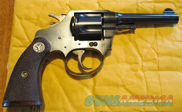 COLT POLICE POSITIVE .38SW CAL.(2ND ISSUE)  Guns > Pistols > Colt Double Action Revolvers- Pre-1945