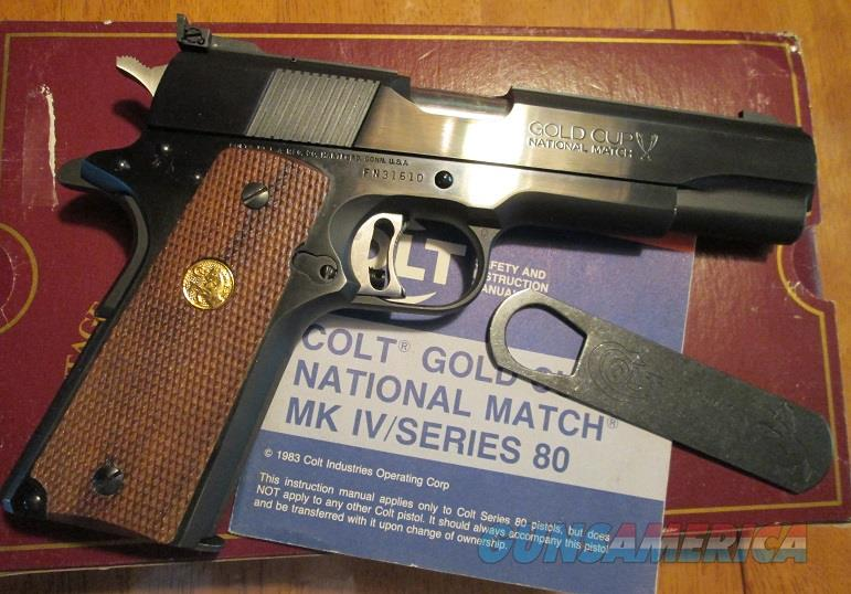 COLT NATIONAL MATCH GOLD CUP .45 ACP  Guns > Pistols > Colt Automatic Pistols (1911 & Var)
