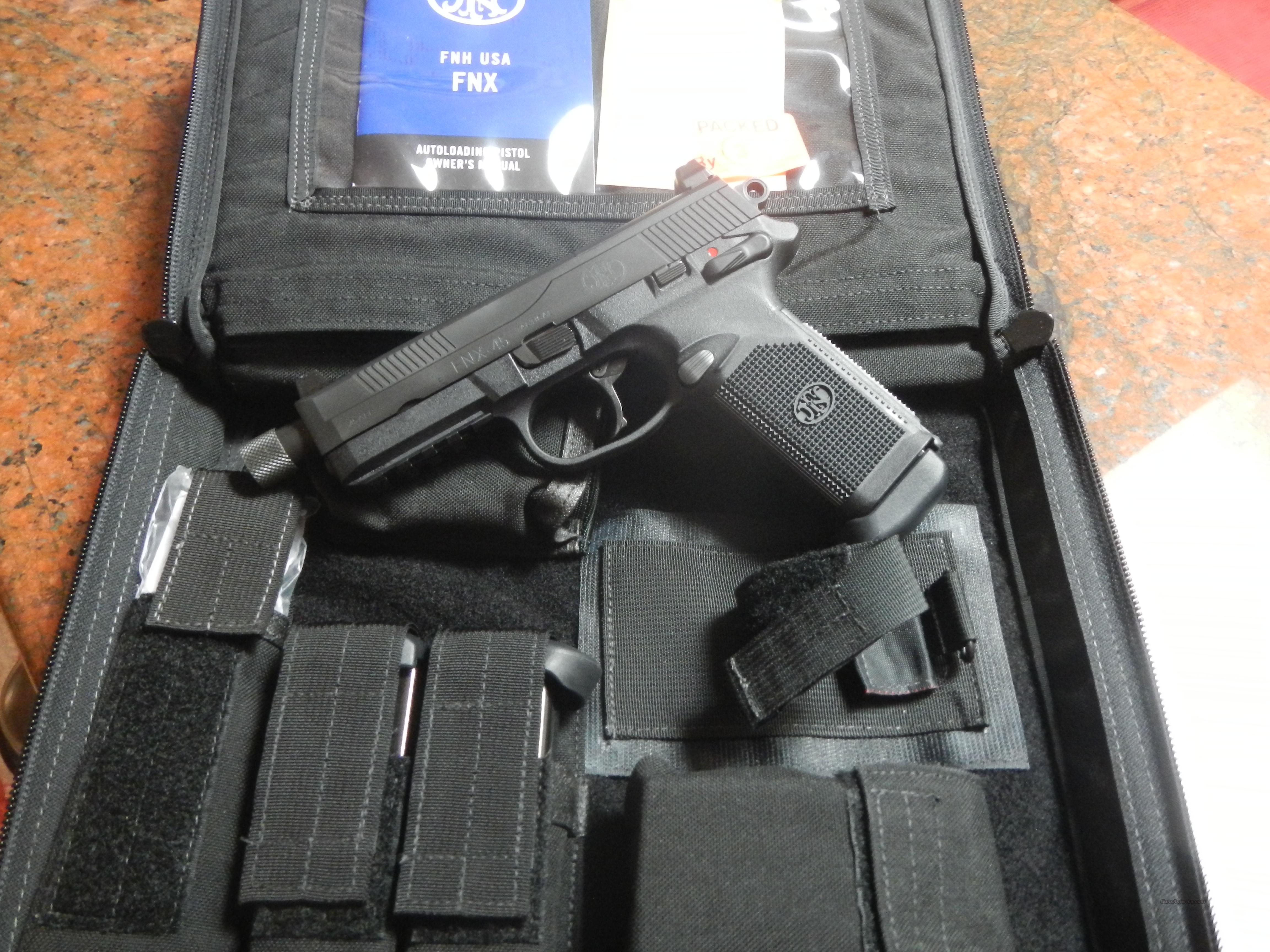 FNH FNX-45 Tactical 15Rd Blk Threaded 45ACP  Guns > Pistols > FNH - Fabrique Nationale (FN) Pistols > FNP