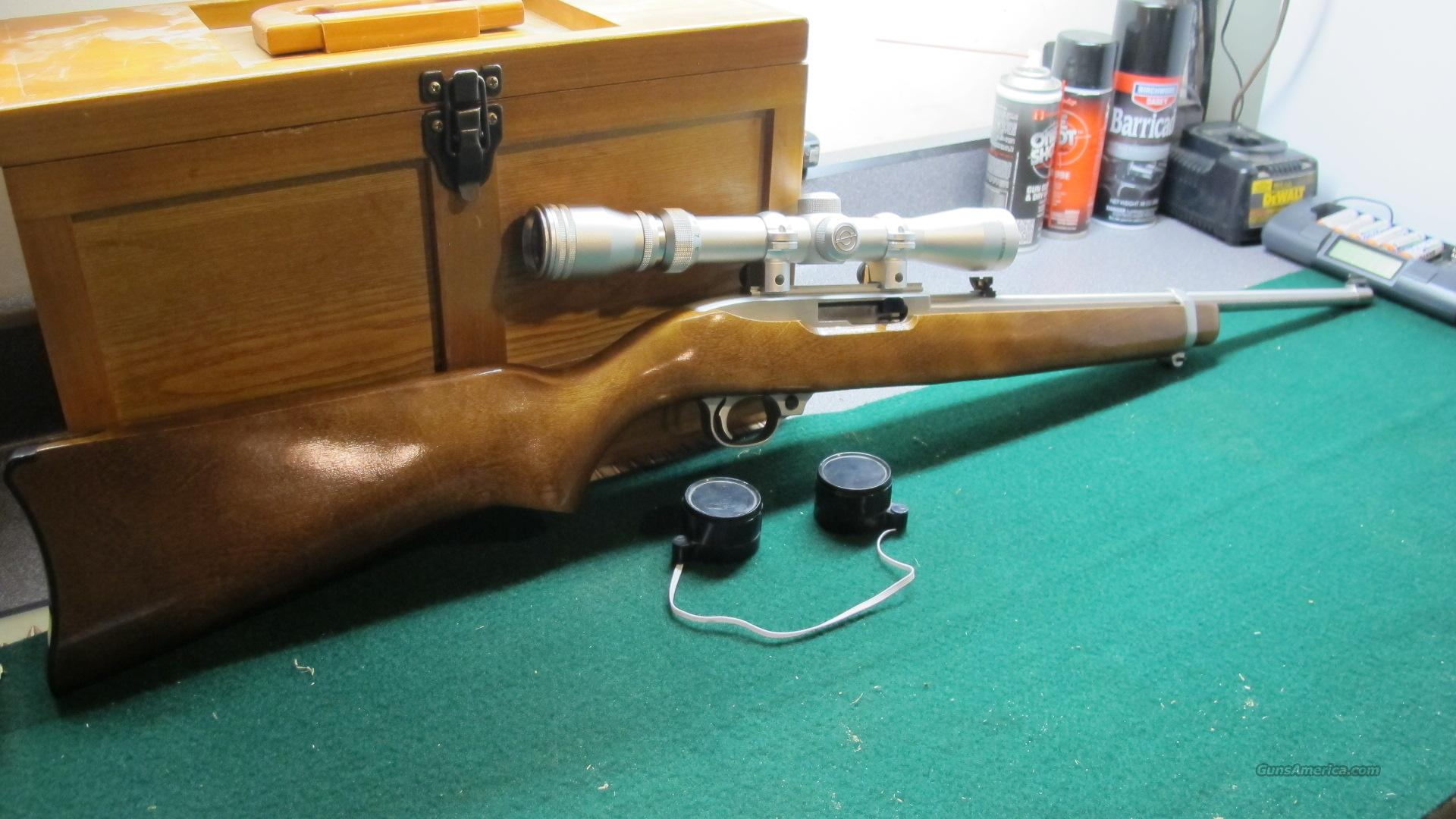 Ruger 10-22 Stainless .22 LR Simmons 3x9 Scope  Guns > Rifles > Ruger Rifles > 10-22