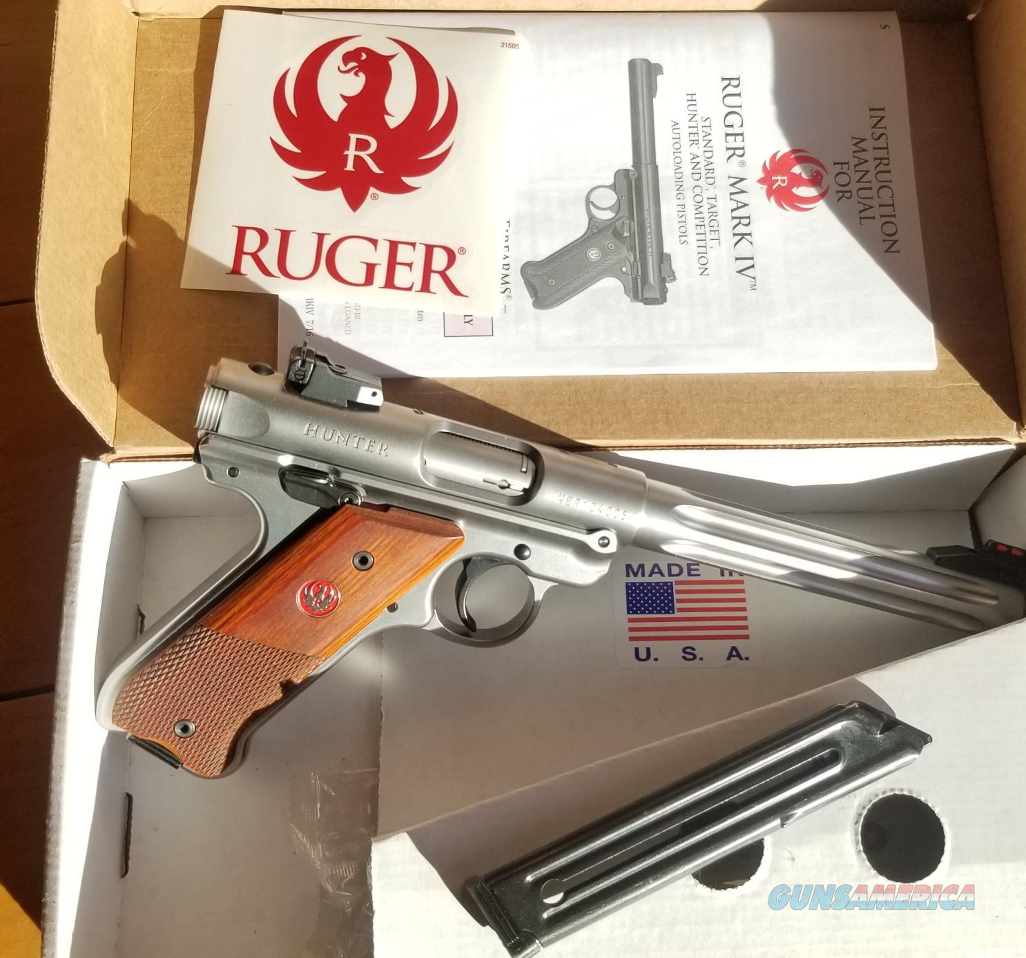 Ruger Mark IV Hunter  Guns > Pistols > Ruger Semi-Auto Pistols > Mark I/II/III/IV Family