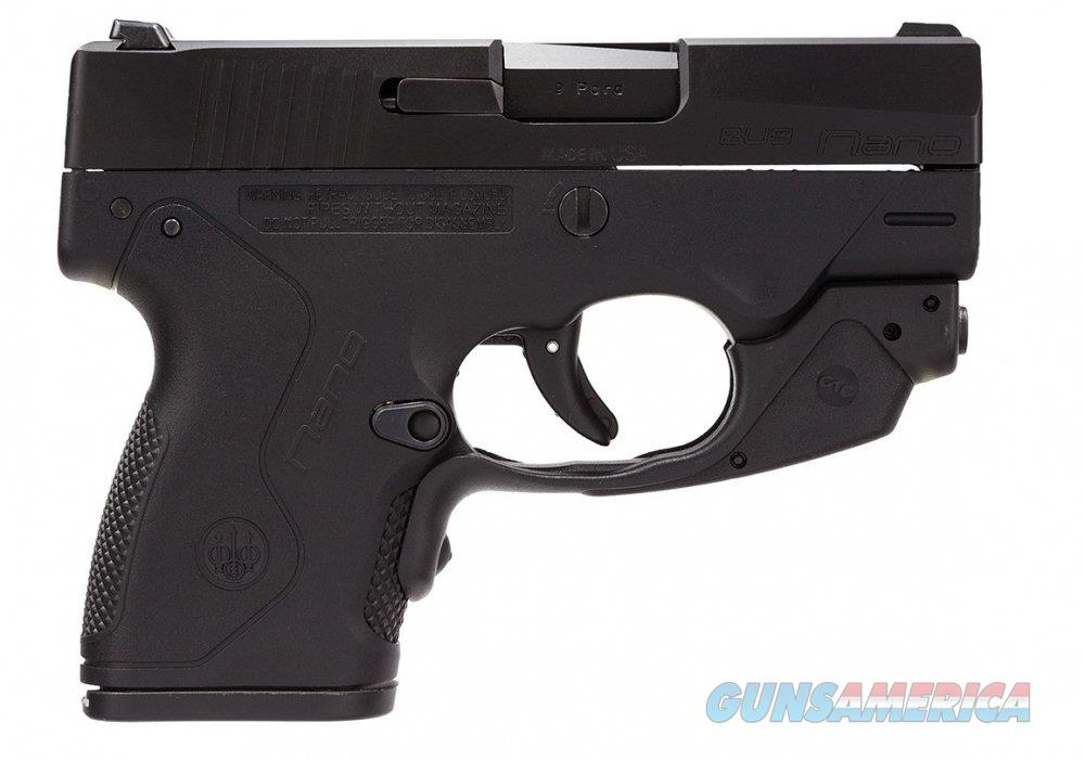 Beretta 9MM Nano Black NEW in Box with CRIMSON TRACE Laser  Guns > Pistols > Beretta Pistols > Polymer Frame