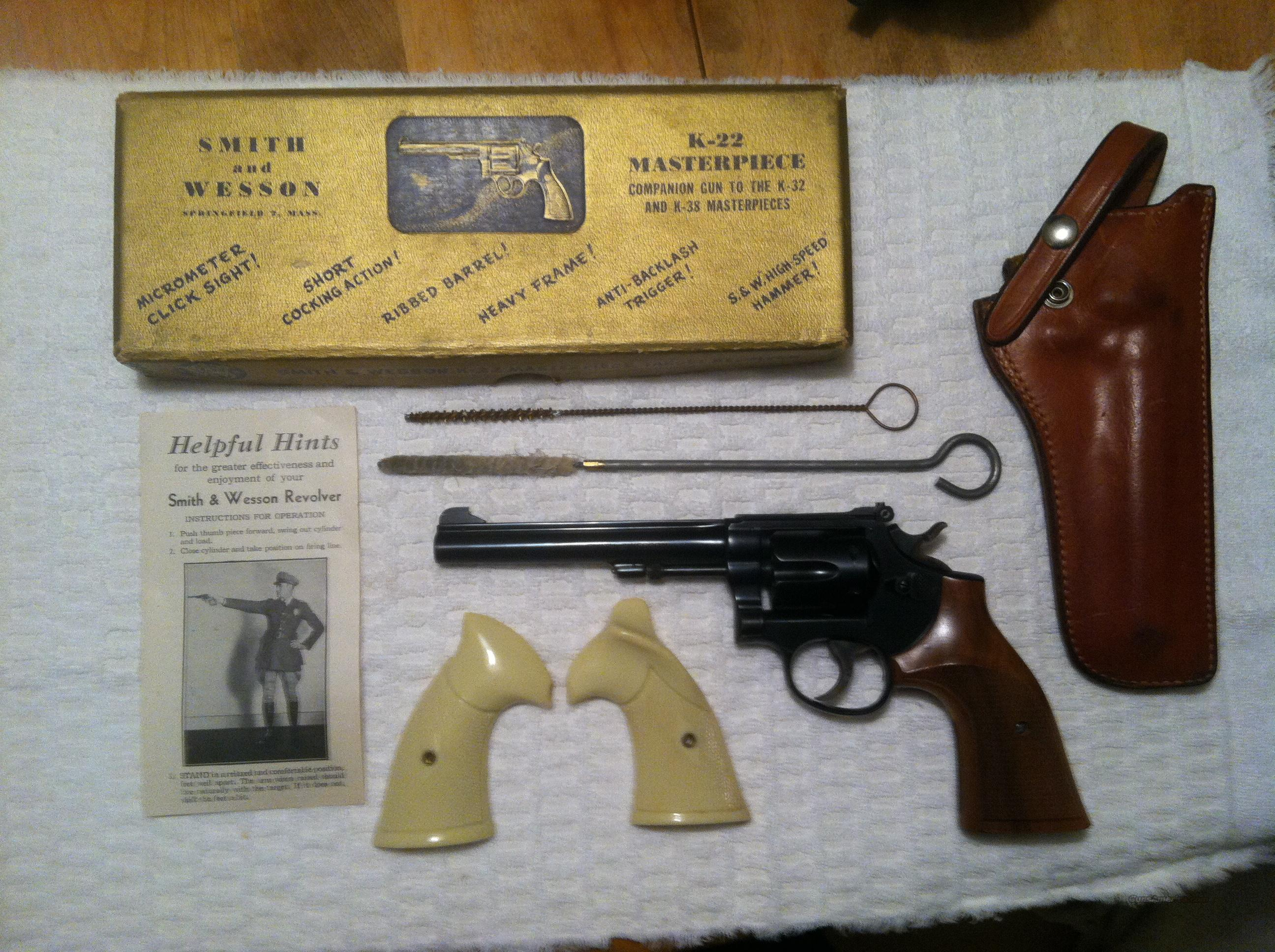 Smith and Wesson K-22 Masterpiece  Guns > Pistols > Smith & Wesson Revolvers > Full Frame Revolver