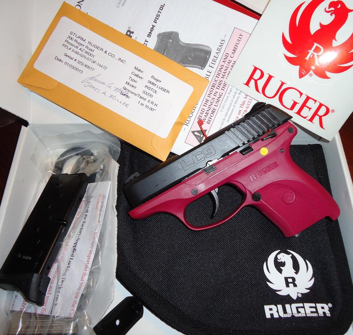 Ruger LC-9 in Very Limited production RASPBERRY COLOR!!!!!  Guns > Pistols > Ruger Semi-Auto Pistols > LC9
