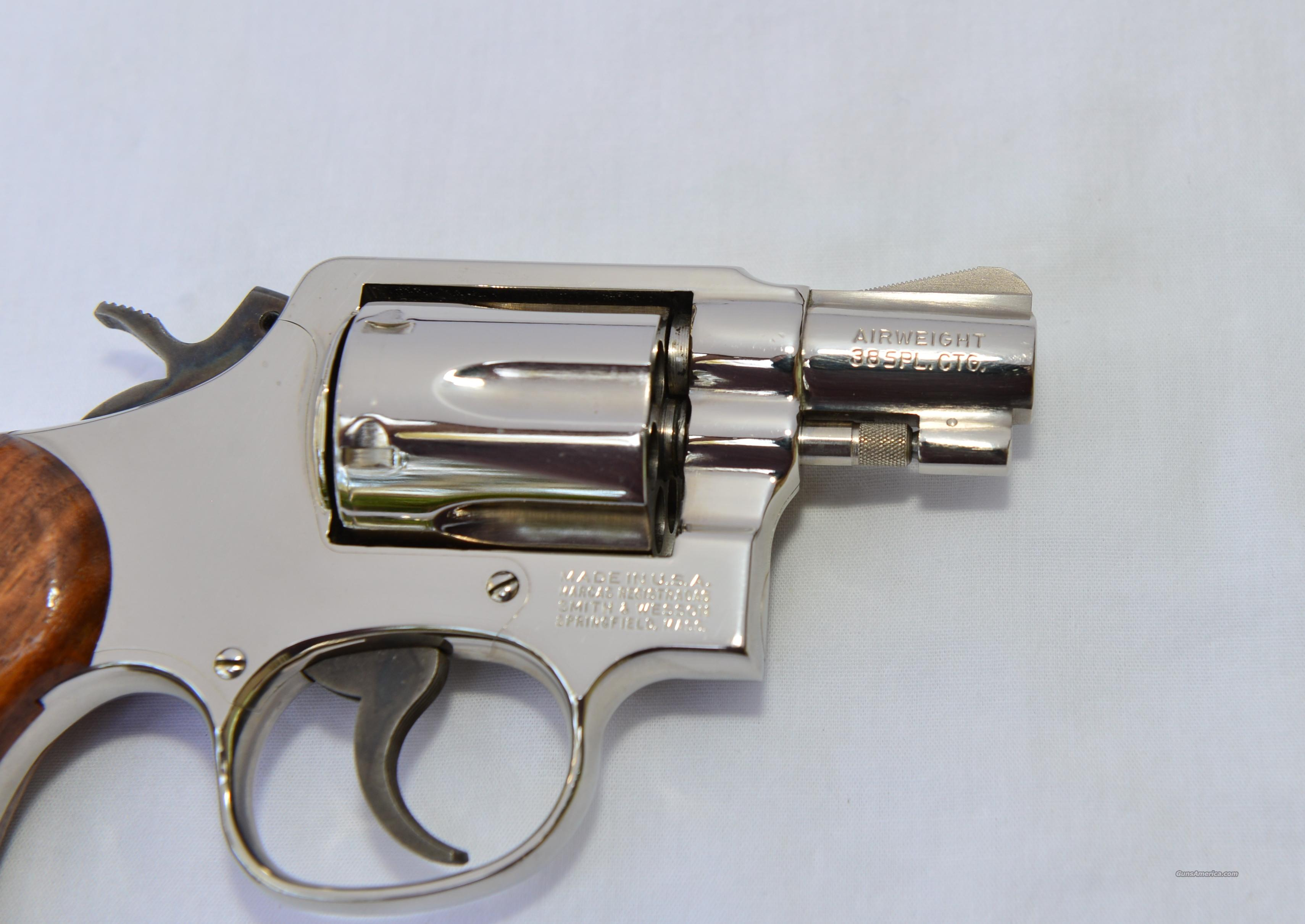 SMITH & WESSON MODEL 12 NICKEL .38 SPECIAL  Guns > Pistols > Smith & Wesson Pistols - Replica