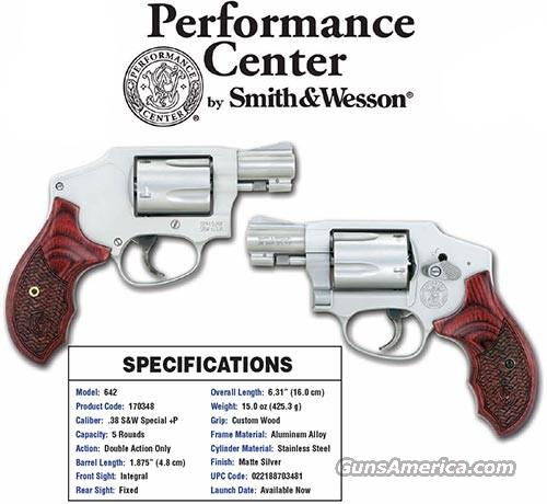 Smith & Wesson Performance Center Model 642 - Centennial Airweight Talo Special Edition S&W M642 Revolver  Guns > Pistols > Smith & Wesson Revolvers > Performance Center
