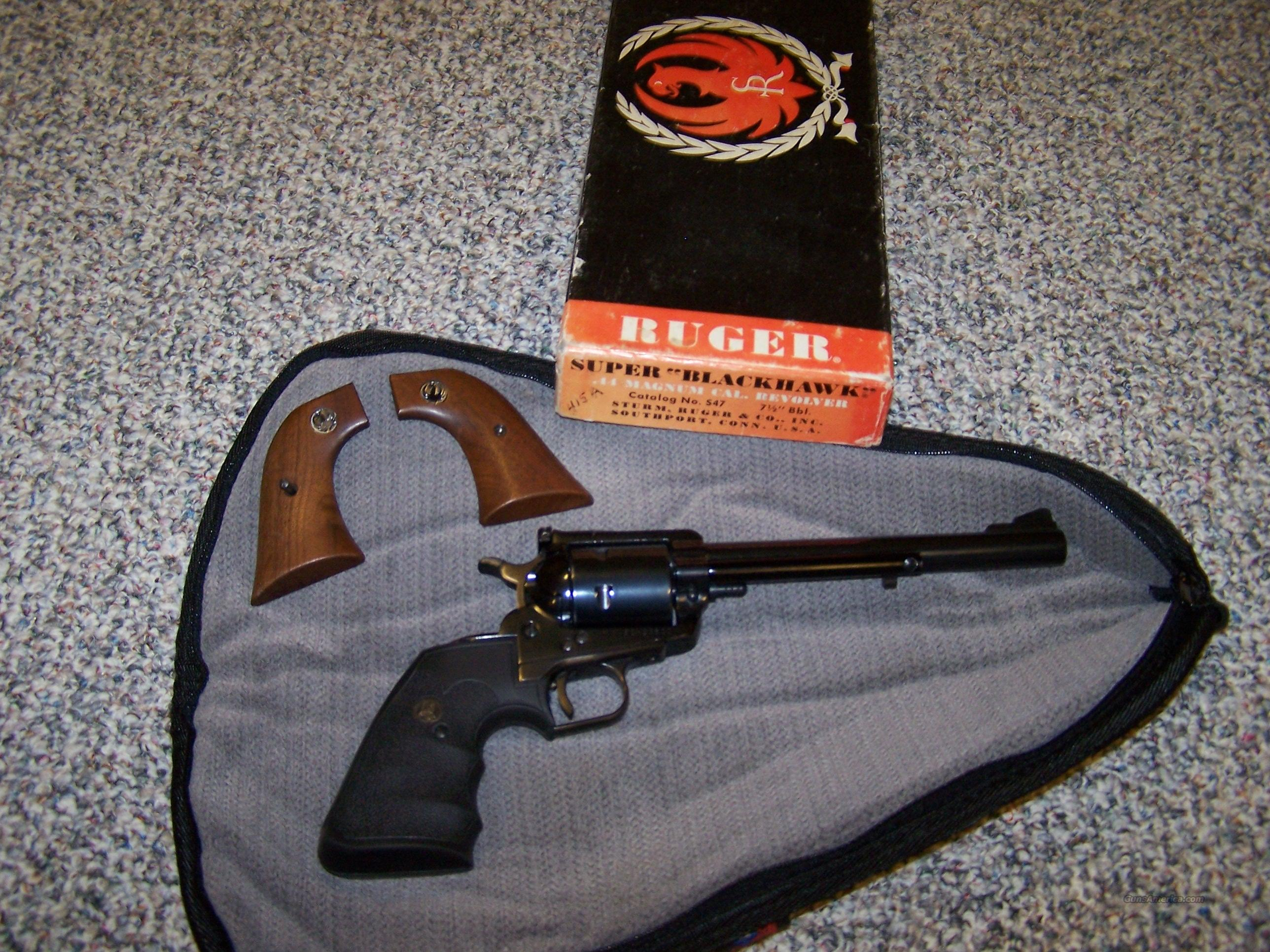 Old Mod. Super Black Hawk 44Mg  Guns > Pistols > Ruger Single Action Revolvers