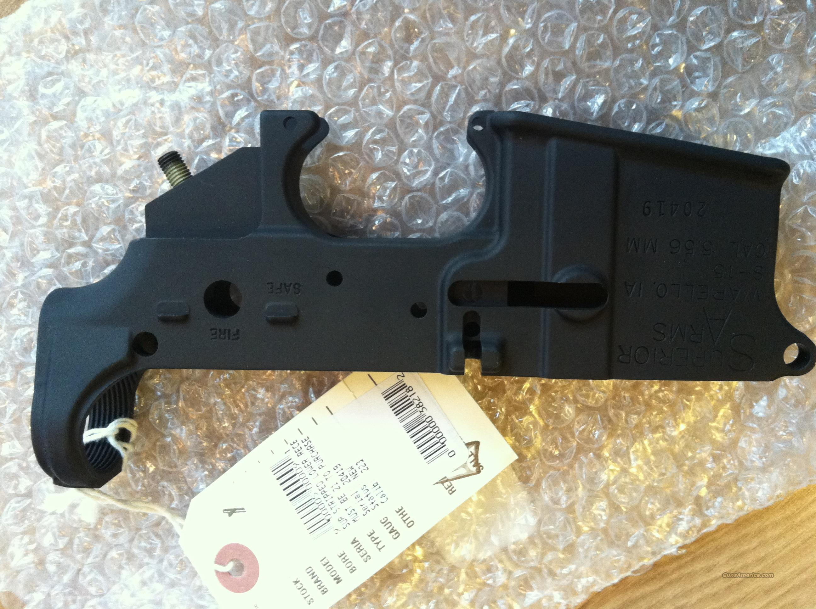 New Superior Arms AR15 Lower Receiver STRIPPED  Guns > Rifles > AR-15 Rifles - Small Manufacturers > Lower Only