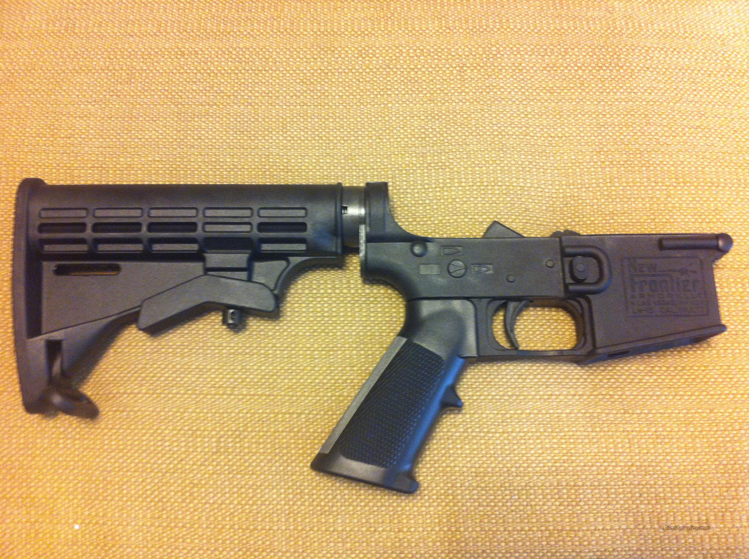 lNew Frontier Armory Model LW-15 Light weight polymer AR-15 Lower Multi Cal 5.56,223, 9mm, Just add an upper   Guns > Rifles > Colt Military/Tactical Rifles