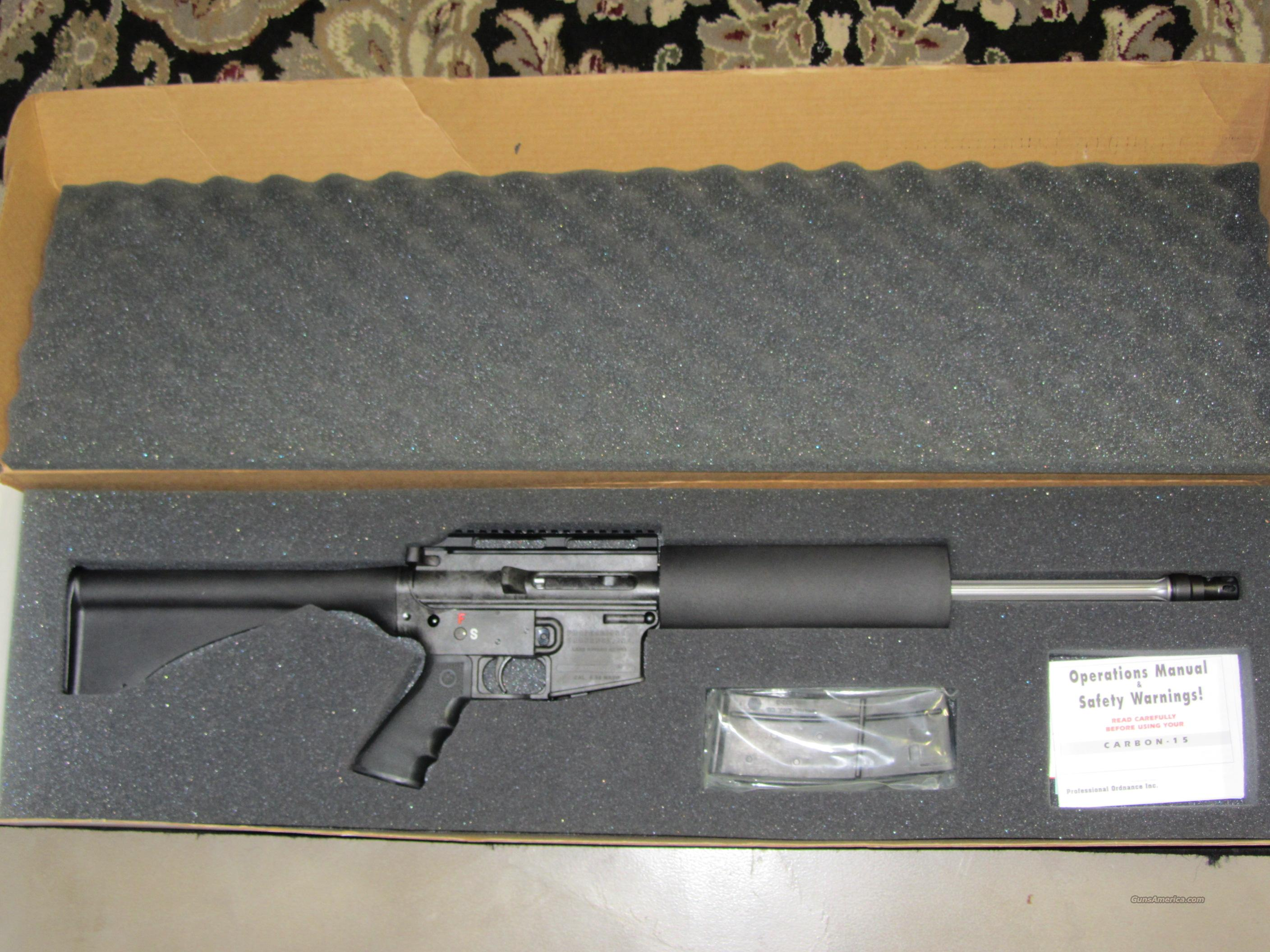 Professional Ordnance CARBON-15 AR  Guns > Rifles > Professional Ordnance Rifles