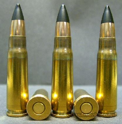 20ct., 7.62x39mm Lapua Black-Tip Steel-Core Amm... for sale