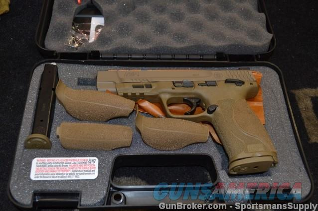 "Smith & Wesson M&P 2.0 9mm FDE 5"" NIB  Guns > Pistols > Smith & Wesson Pistols - Autos > Shield"